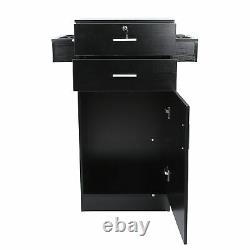 Styling Station Barber Cabinet Salon Furniture Lockable Beauty Spa Drawer Table