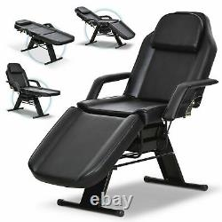 US Adjustable Tattoo Facial Bed Massage Table Chair Salon Spa Beauty PVC Leather