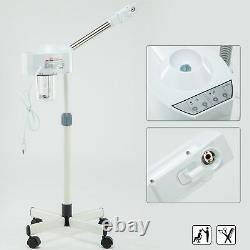 UV Ozone Hot Facial Steamer Beauty Salon Spa Makeup Aromatherapy Rolling Stand