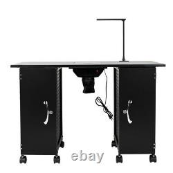 Vented Manicure Nail Table Station Beauty Spa Salon Equipment Trolley With Drawer