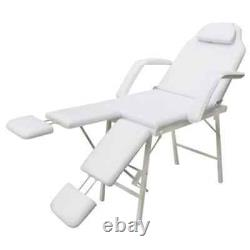 VidaXL Facial Bed Adjustable White Beauty Salon Tattoo Parlor Spa Massage