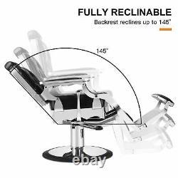 Vintage Heavy Duty Hydraulic Barber Chair All Purpose Reclining Salon Spa Beauty