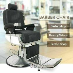 Vintage Heavy Duty Hydraulic Recline Barber Chair Salon Hair Stylist Beauty Spa