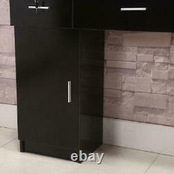 Wall Mount Beauty Styling Station Salon Spa Cabinet Hair Desk Drawer Furniture