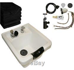 White CERAMIC Shampoo Bowl Sink Barber Shop Beauty Spa Salon Hair Equipment